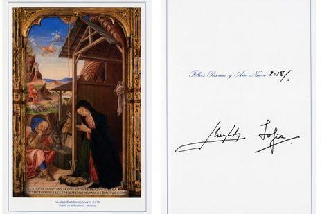 La carte de voeux de l'ancien roi Juan Carlos et de l'ancienne reine Sofia, révélée le 11 décembre 2017
