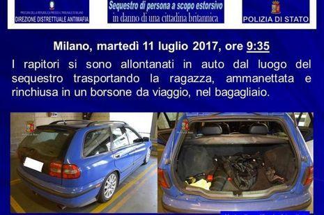 La voiture dans laquelle la victime a été transportée.
