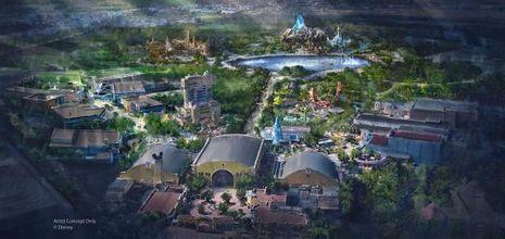 Vue d'artiste de la future extension de Disneyland Paris.