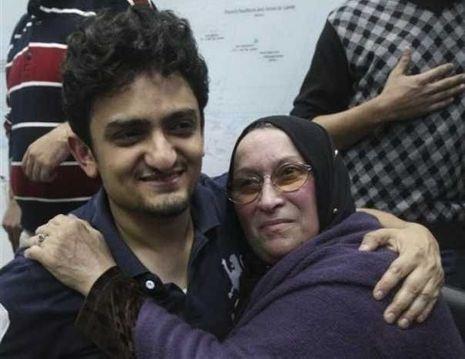 Wael Ghonim et la mère de Khaled Saïd -