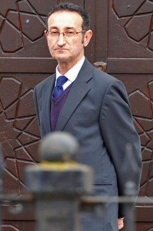 Zaid Al-Hilli, lors des funérailles de la famille Al-Hilli le 21 octobre dernier.
