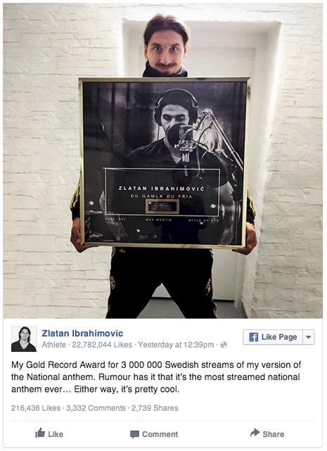 Zlatan disque d'or