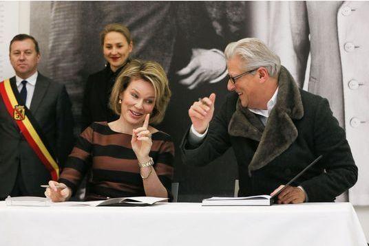 Mathilde, complice avec l'artiste Jan Fabre