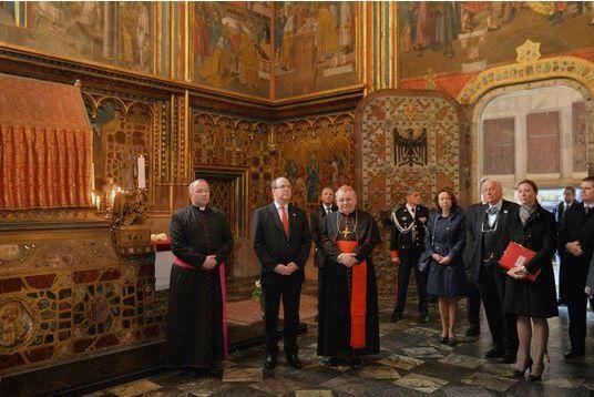 Le prince en visite à Prague