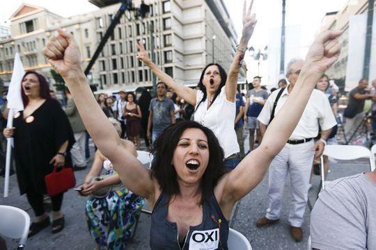 """Le peuple grec dit """"non"""""""