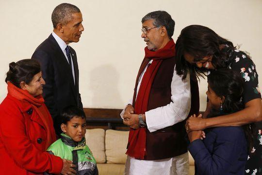 Les Obama rencontrent la Malala indienne