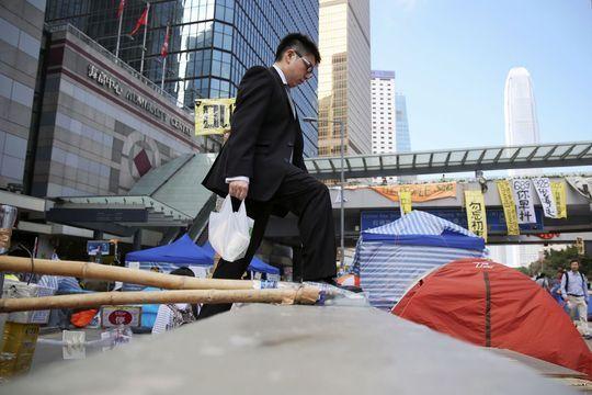 A Hong Kong, la vie parmi les manifestants