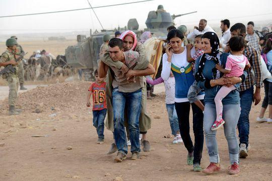 Exode massif des Kurdes de Syrie face à l'Etat islamique