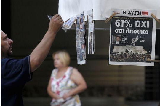 """La presse européenne sous le choc du """"Non"""" grec"""