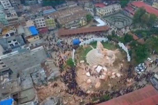 Népal. La désolation vue par un drone