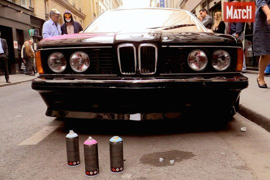 Monsieur Chat et Quik graffent une BMW unique