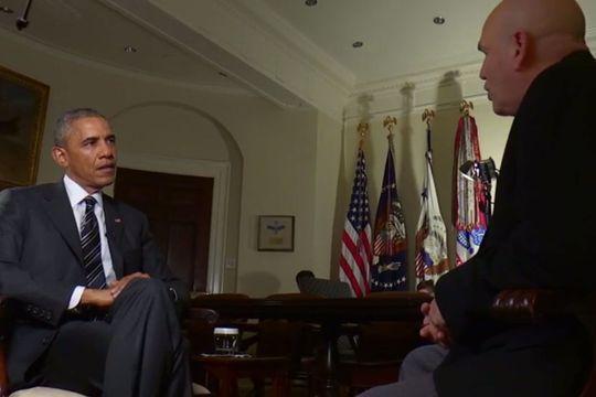 """Barack Obama interviewe le créateur de la série """"The Wire"""""""