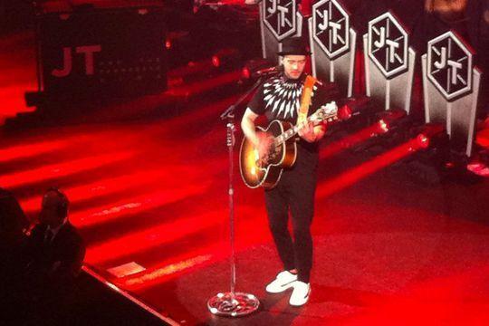 Hier soir à Paris... Justin Timberlake