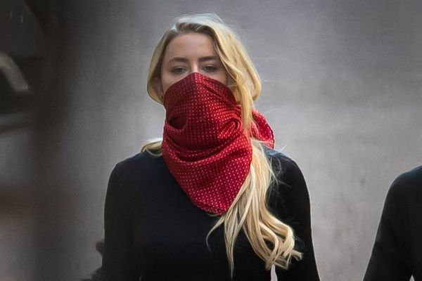 Amber Heard à son arrivée au tribunal.