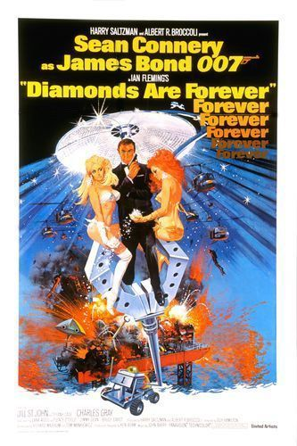 affiche Bond diamonds forever-