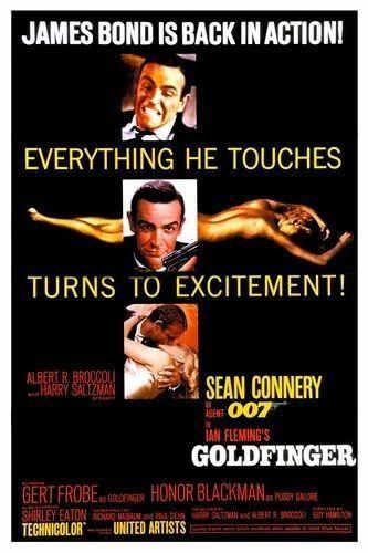 affiche Bond goldfinger-