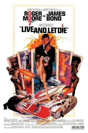 affiche Bond live let die-