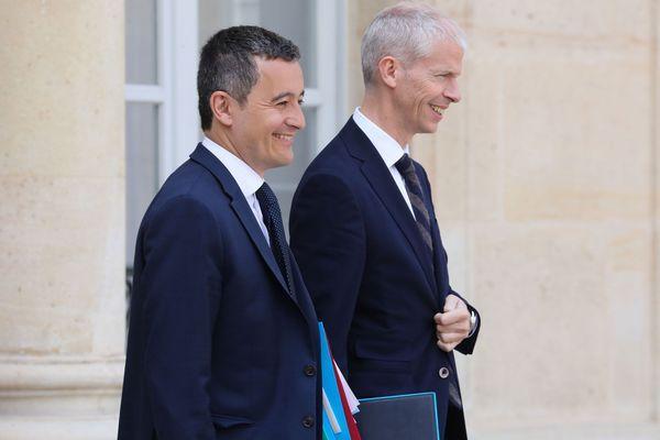 La zone non investiguée … Gerald-Darmanin-et-Franck-Riester-reelus-des-le-premier-tour