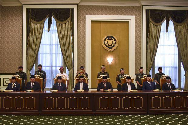 Election du nouveau roi de Malaisie à Kuala Lumpur, le 24 janvier 2019