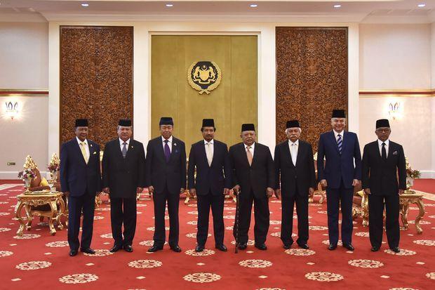 Seul l'ancien monarque, sultan de Kelatan, manquait ce 24 janvier 2019 à Kuala Lumpur
