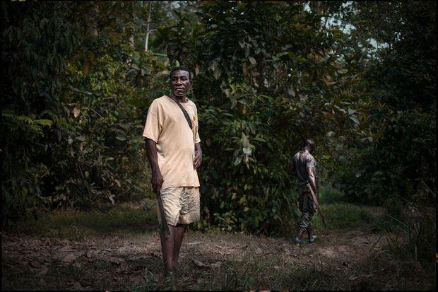 Un chasseur pygmé au coeur de la réserve de Dzanga-Sangha en Centrafrique.