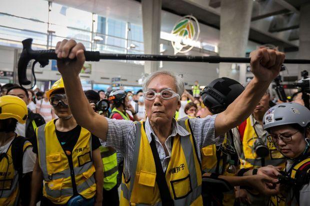 «Papy Wong» à Hong Kong, le 7 septembre 2019.