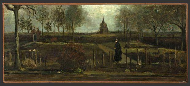 """""""Le jardin du presbytère de Nuenen au printemps"""" de van Gogh."""