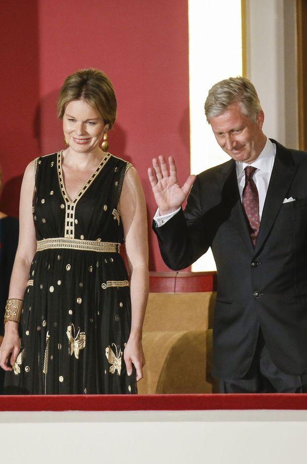 La reine Mathilde et le roi Philippe de Belgique au Bozar à Bruxelles, le 24 mai 2016