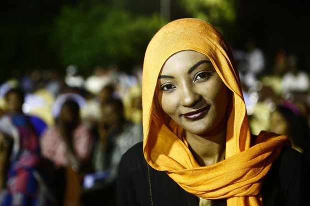 L'actrice soudanaise Sana Saeed.