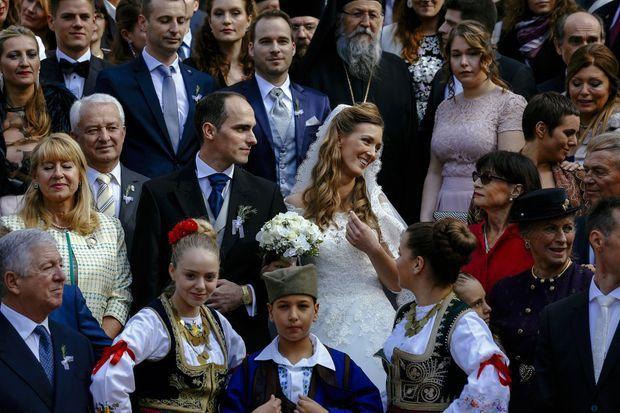 Le prince de Serbie Mihajlo Karadjordjevic a épousé Ljubica Ljubisavljebvic en l'église d'Oplenac, le 23 octobre 2016