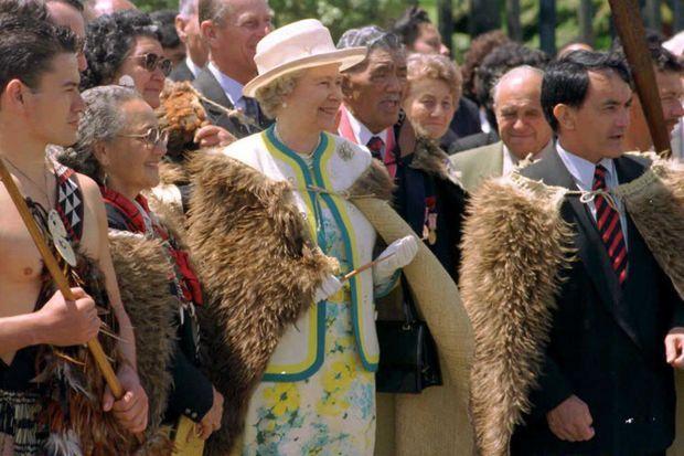 Elizabeth II à Rotorua en Nouvelle-Zélande, le 2 novembre 1995