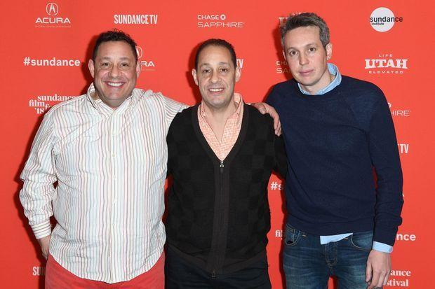 David Kellman, Robert Shafran et le réalisateur Tim Wardle, le 19 janvier 2018