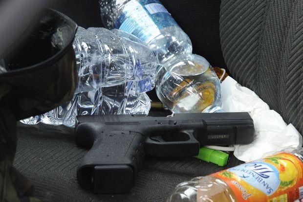L'arme utilisée par l'assaillant, le 3 février 2018 à Macerata
