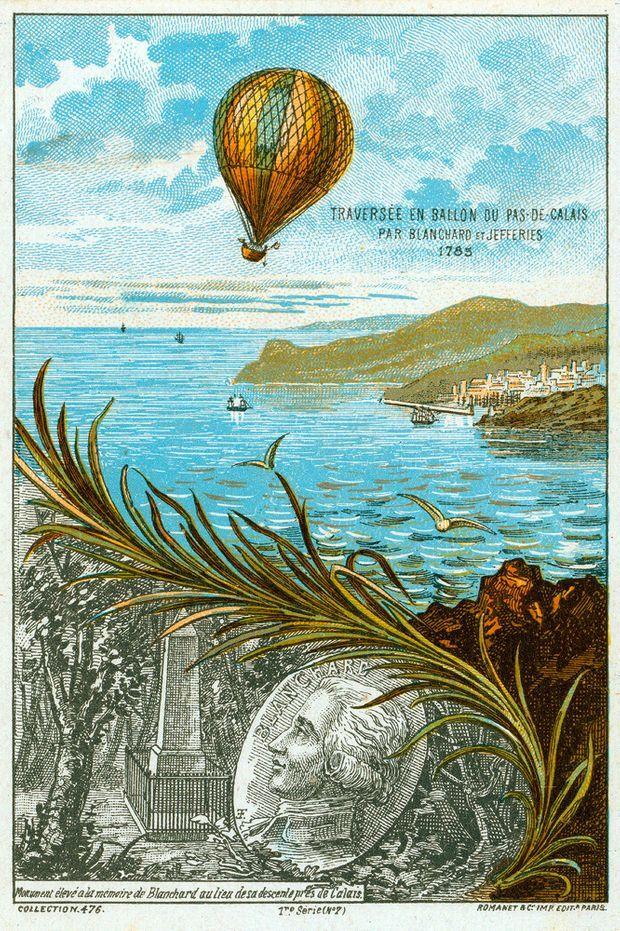 La première traversée de la Manche en ballon.
