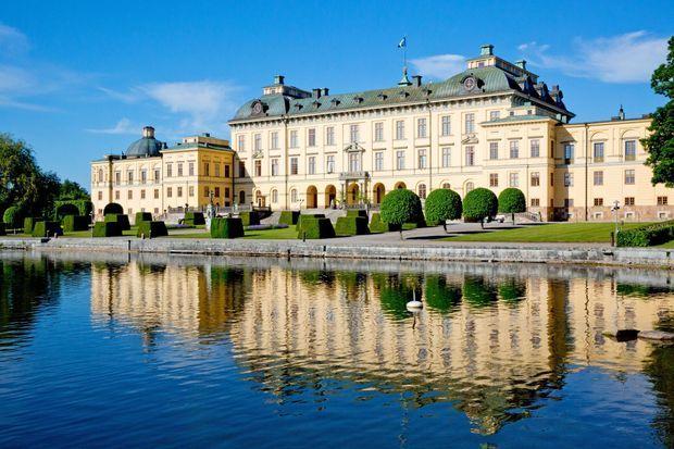 Le château de Drottningholm, résidence du roi Carl XVI Gustaf et de la reine Silvia, près de Stockolm