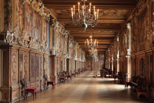 La Galerie François Ier au château de Fontainebleau
