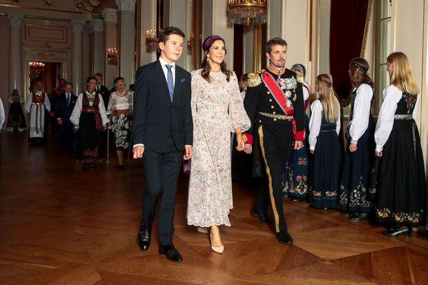 La princesse Mary avec les princes Frederik et Christian de Danemark à Oslo, le 31 août 2019
