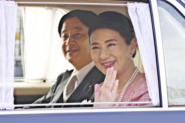 L'impératrice Masako du Japon avec son mari l'empereur Naruhito à Tokyo, le 9 décembre 2019, jour de son 56e anniversaire