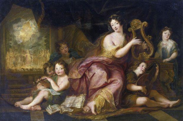 Portrait de la marquise de Maintenon avec les enfants naturels de Louis XIV et de Mme de Montespan, par Antoine Coypel (Collection privée)