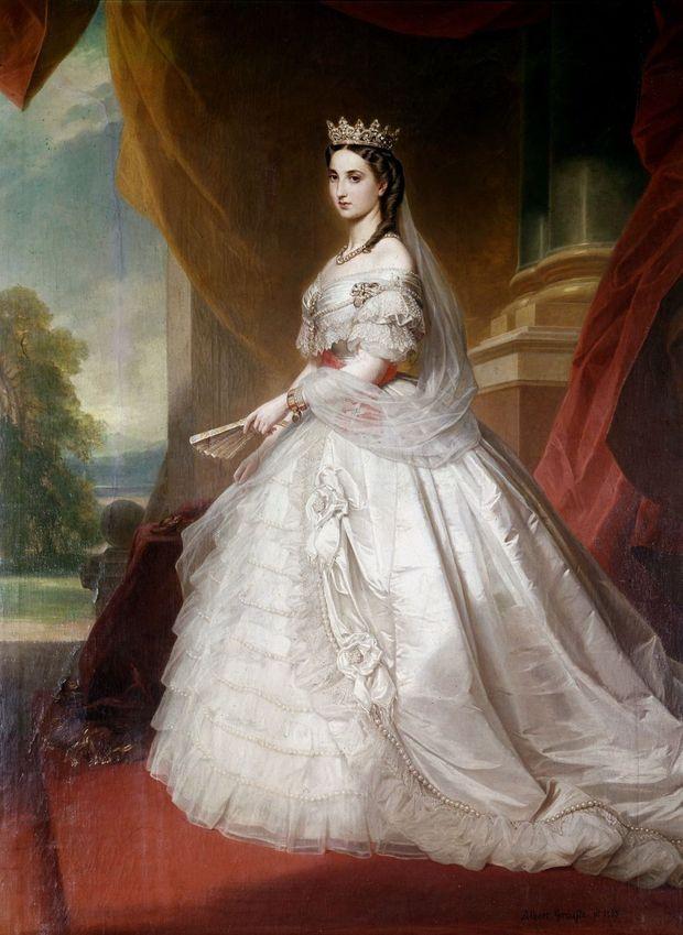 Portrait de l'impératrice Charlotte du Mexique par Albert Grafle