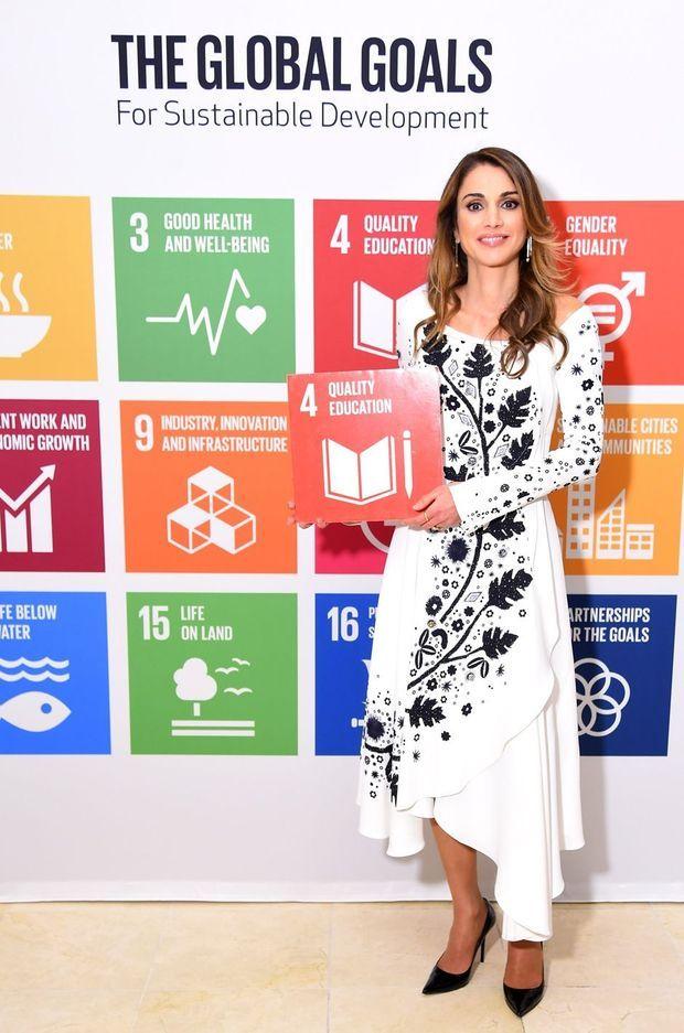 La reine Rania de Jordanie à New York, le 20 septembre 2016