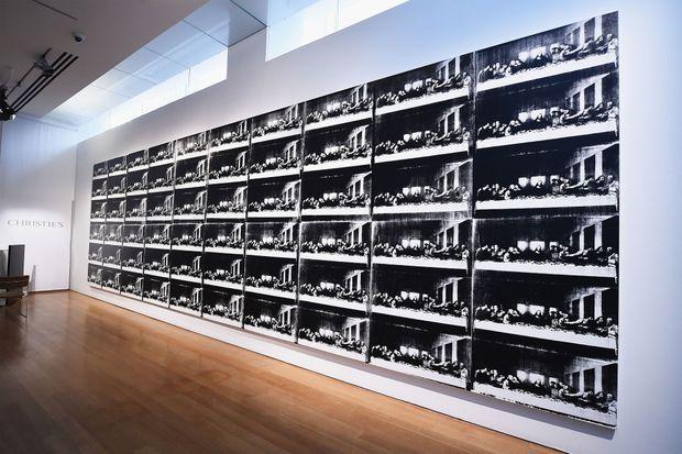 """L'oeuvre """"Sixty Lats Suppers"""" d'Andy Warhol est estimée à 50 millions de dollars"""