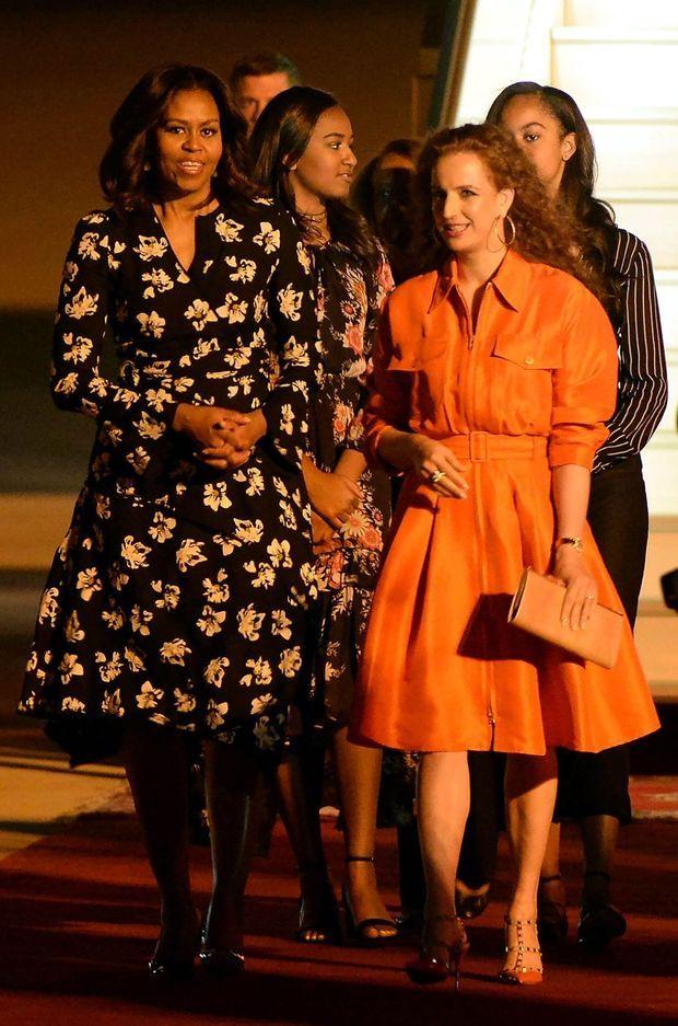 La princesse Lalla Salma du Maroc avec Michelle Obama à Marrakech, le 28 juin 2016