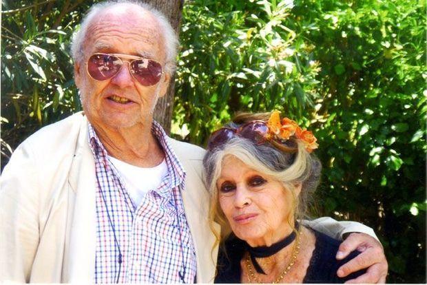 Brigitte Bardot avec son ami Christian Brincourt.