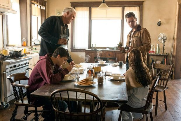 "Timothée Chalamet aux côtés de Matthew McConaughey et Mackenzie Foy dans ""Interstellar"""
