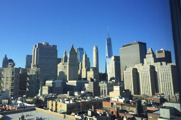 Vue du 50 Bowery sur Wall Street