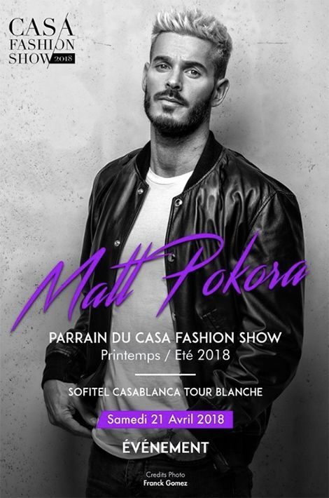 Matt Pokora parrain d'honneur du Casa Fashion Show.