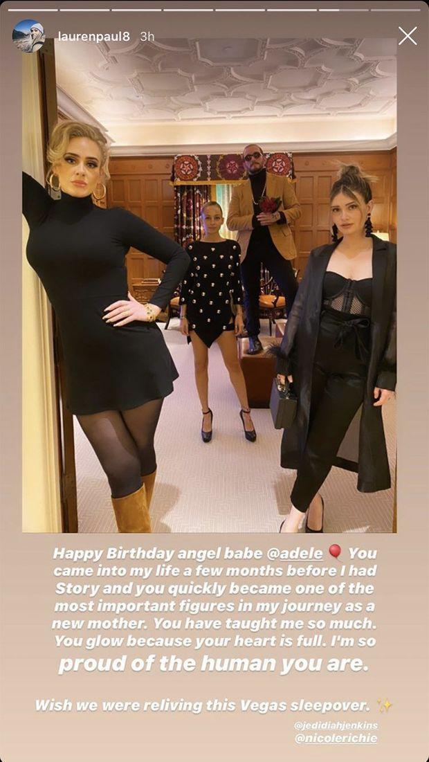 L'amie d'Adele, Lauren Paul, publie un message pour l'anniversaire de la chanteuse le 5 mai 2020