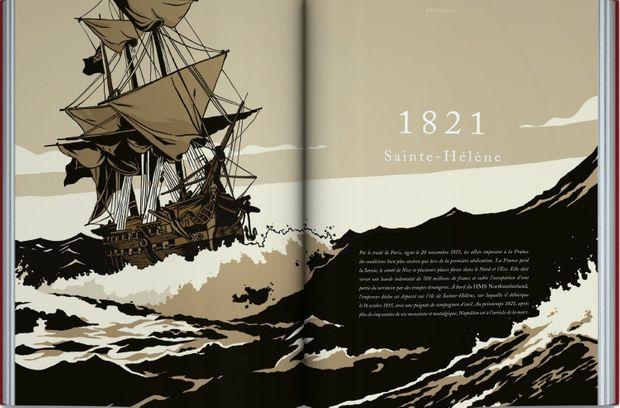 """Illustration de Bruno Wennagel dans le roman graphique """"Moi Napoléon"""""""