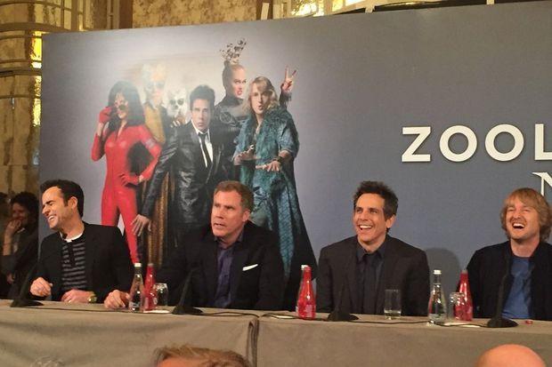 Fous rires complices entre Justin Theroux, Will Ferrell, Ben Stiller et Owen Wilson.